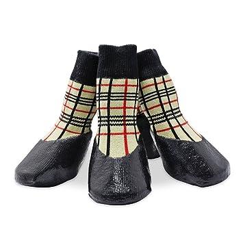 keesin mascotas de hundewelpen Agua Densidad antideslizante calcetines deportivos Guantes Botas, suela de goma, Paw de protección para Small/Medium/Large ...