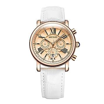 Megir Moda Mujer Relojes Relojes De Primeras Marcas De Lujo Reloj De Cuarzo De Las Señoras