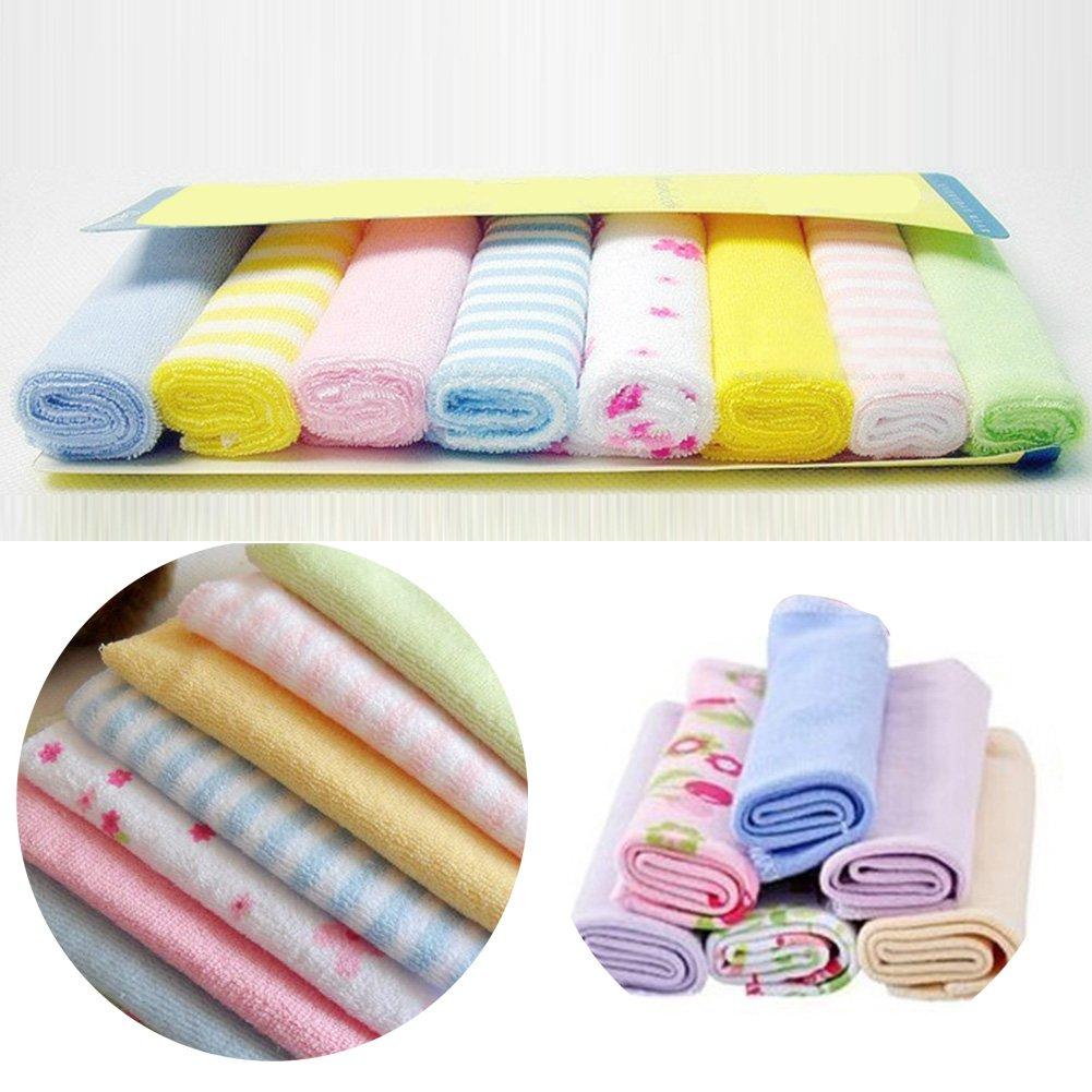 Telo da bagno 8PCS doccia salvietta bagno Swim Wipe altamente assorbente morbido al tatto bambini neonato colori misti. VOOYE