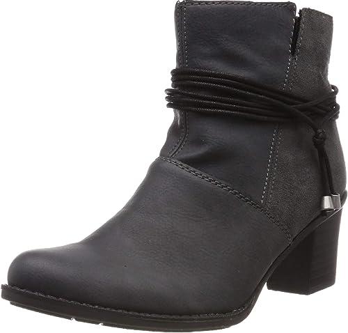 Rieker Damen Stiefelette 77683,Frauen Stiefel,Boot,Halbstiefel,Damenstiefelette,Bootie,hoch,Blockabsatz 4.3cm