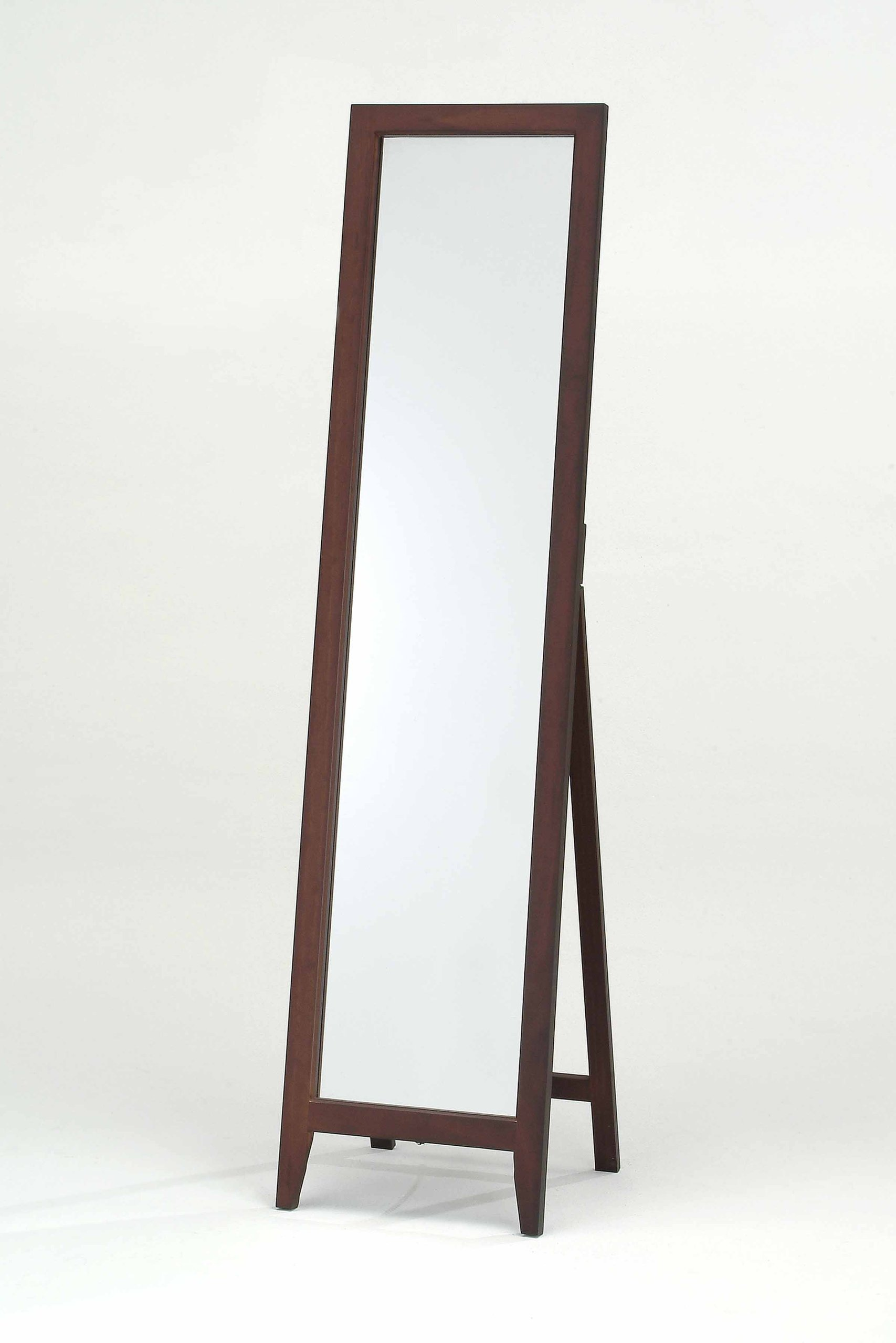 Kings Brand Walnut Finish Solid Wood Frame Floor Mirror