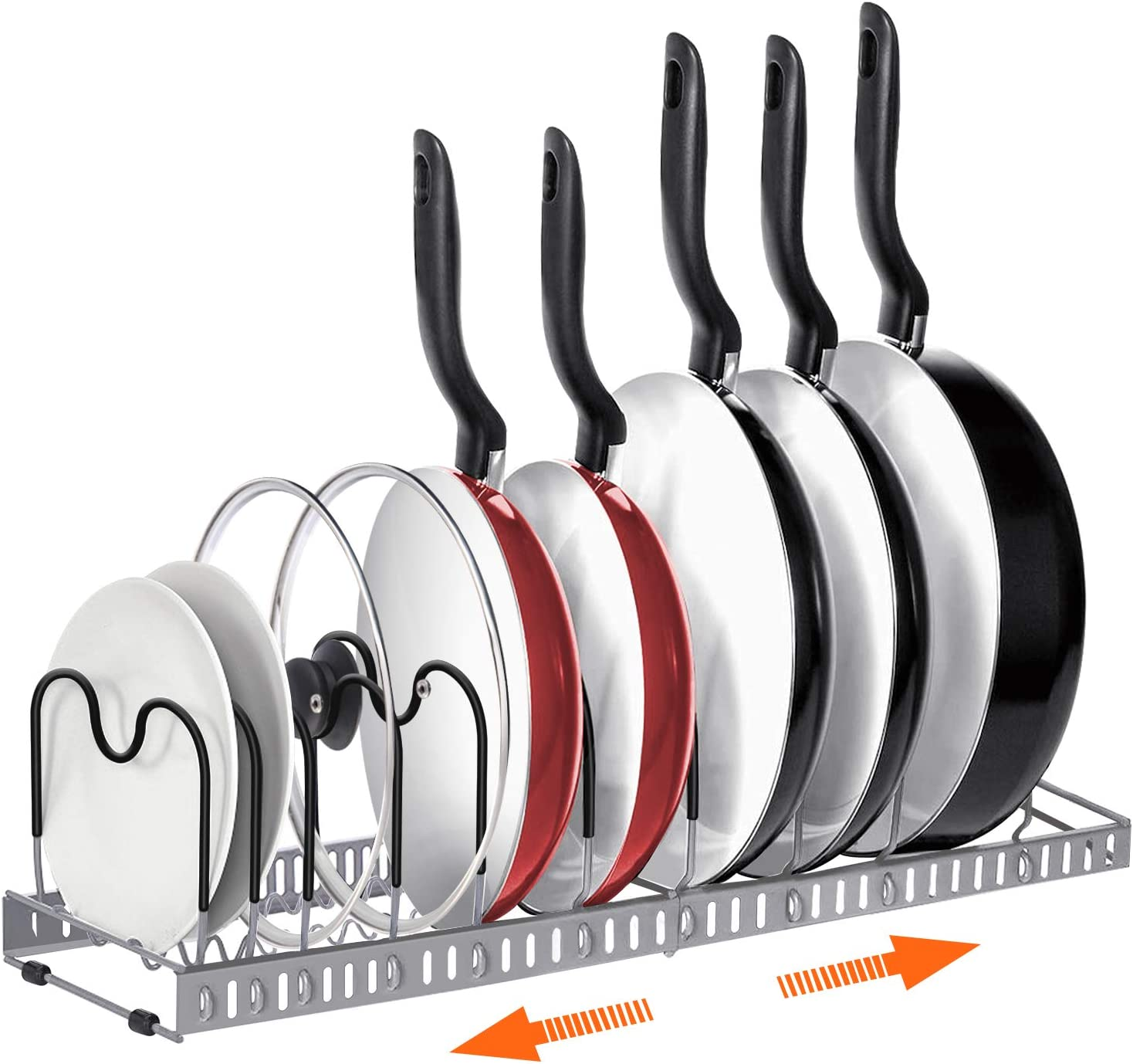 Expandable Pot and Pan Organizers Rack