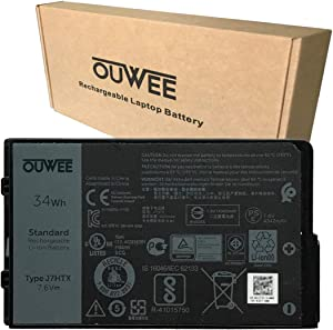 OUWEE J7HTX Laptop Battery Compatible with Dell Latitude 7202 7212 7220 Rugged Extreme Tablet Series 02JT7D 7XNTR FH8RW 7.6V 34Wh 4342mAh 4-Cell