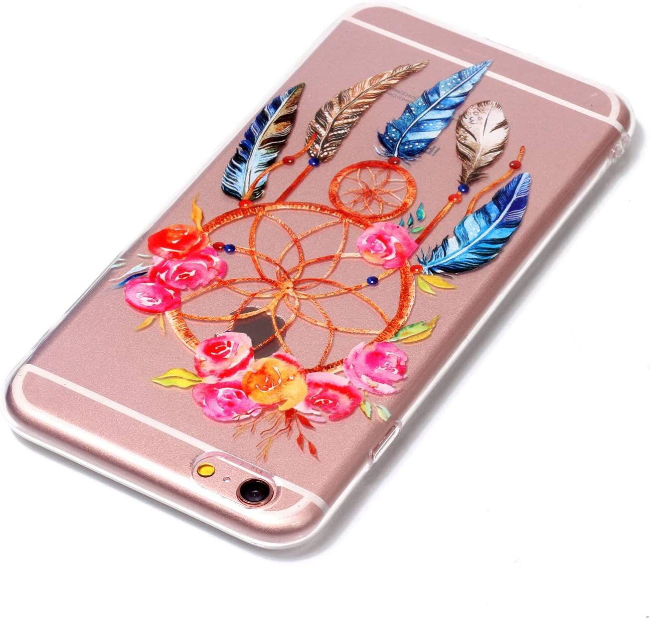 Slim Thin Peach blossom Fashional Soft Transparent Shock Absorption Scratch Resistant TPU Skin Silicone Full-body Protective for Apple iPhone 6 // 6S Plus iPhone 6 // 6S Plus Case
