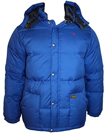 88b119c42734 Polo Ralph Lauren Teenagers Boys Elmwood Down Jacket Saphire star Hooded  Coat D17AM (XL 18-20 Years)  Amazon.co.uk  Clothing