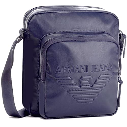 Borsello uomo Giorgio Armani blu con tracolla  Amazon.it  Scarpe e borse abd8813a499