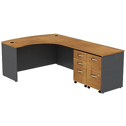 Serie bbf C Bowfront L escritorio 2 cajones funda para lavabo y ...