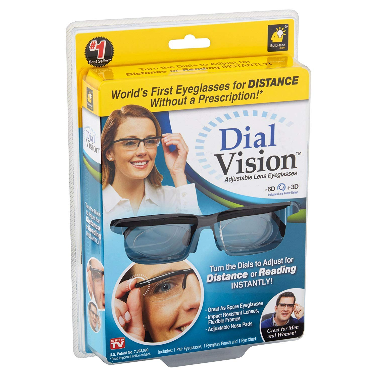 56779f8f98b Amazon.com  Dial Vision Unisex Glasses by BulbHead