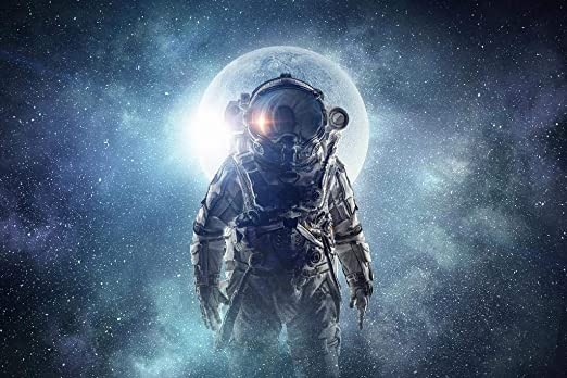 Amazon Com Poster Foundry Astronaut Outer Space Fantasy Scifi Stretched Canvas Wall Art 16x24 Inch Posters Prints