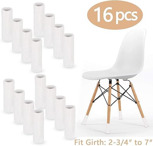 LimBridge 16pcs Chair Socks Elastic Wood Floor Furniture Chair Leg Feet