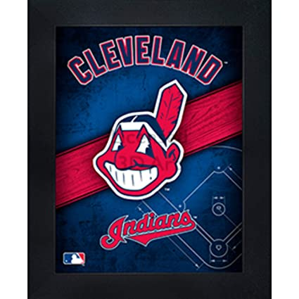 6cccdf3b6861c Amazon.com  Cleveland Indians 3D Poster Wall Art Decor Framed