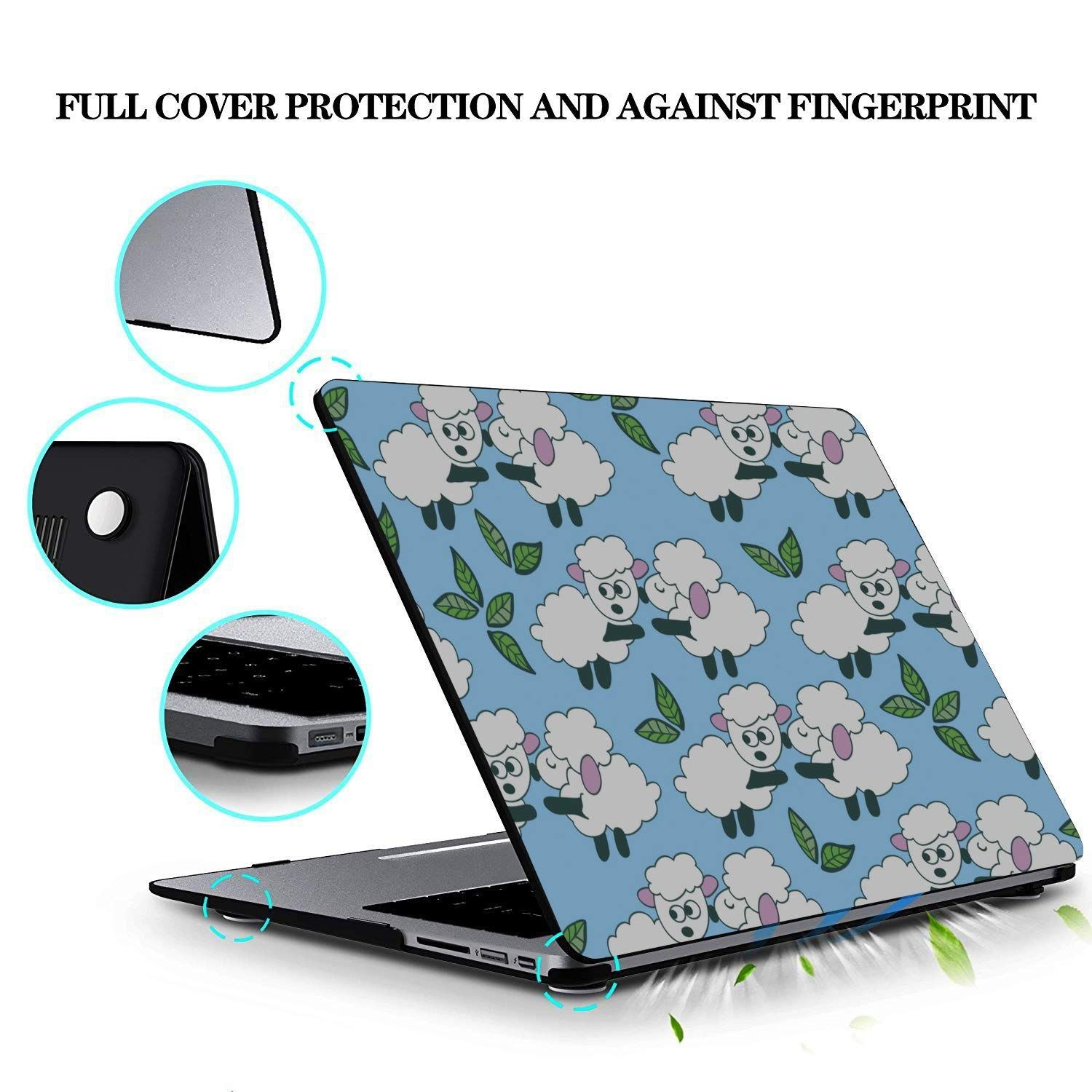 Laptop 13 Inch Case Simple Creative Fashion Painting Plastic Hard Shell Compatible Mac Air 11 Pro 13 15 MacBook Protector Protection for MacBook 2016-2019 Version