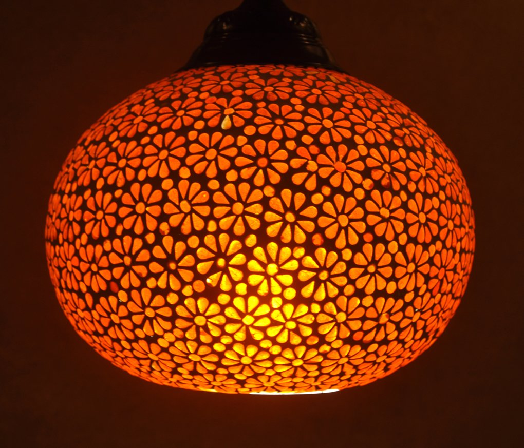 Indian Glass Ceiling Lamp Shades Lighting Decorative Pendant ...