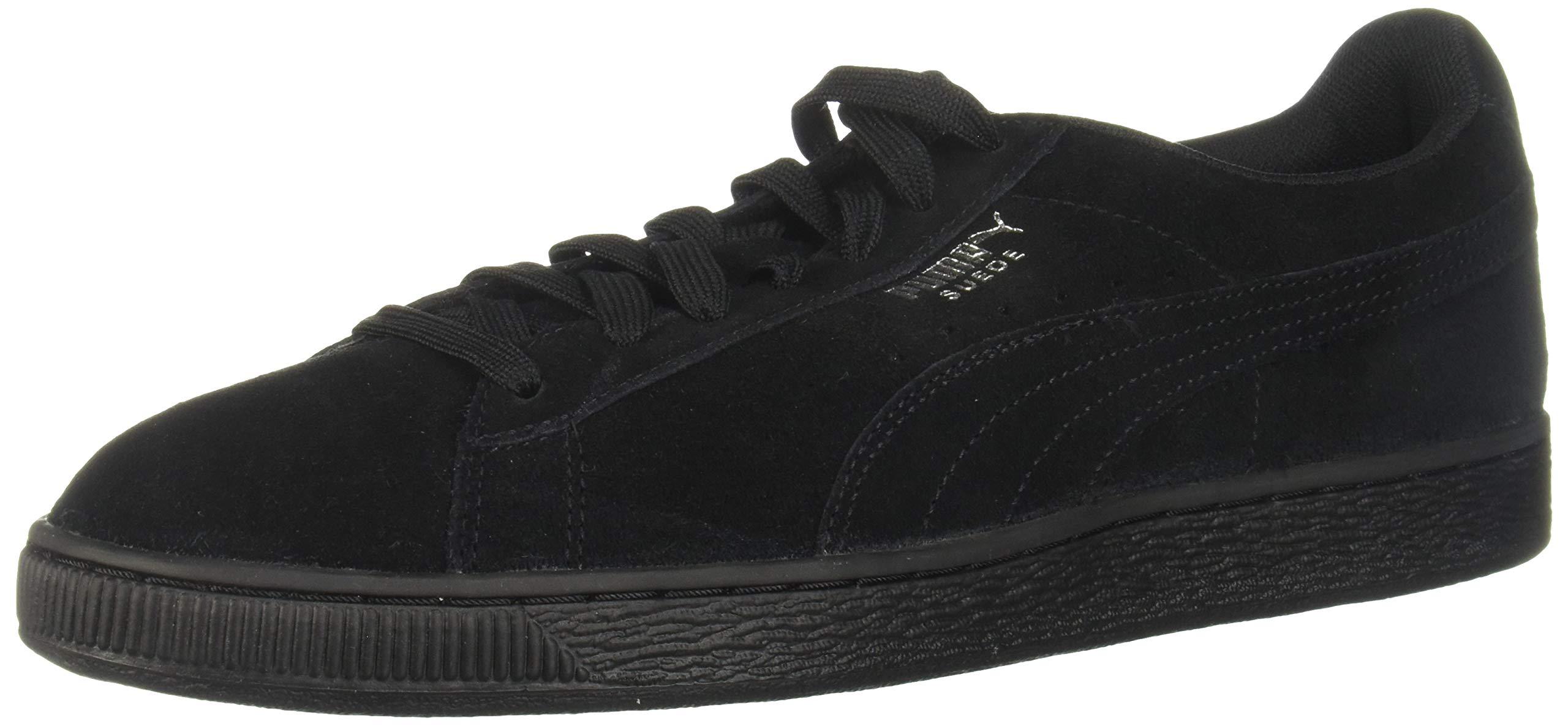 PUMA Suede Classic Sneaker,Black,7 M US Women's/5.5 M US Men's
