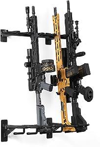 Savior Equipment Wall-Mount Rifle Rack Tactical Shotgun Carbine Firearm Free-Standing Gun Display Indoor Storage Rack - Heavy Duty Steel, 6-Slot Holds up to 150 Lbs