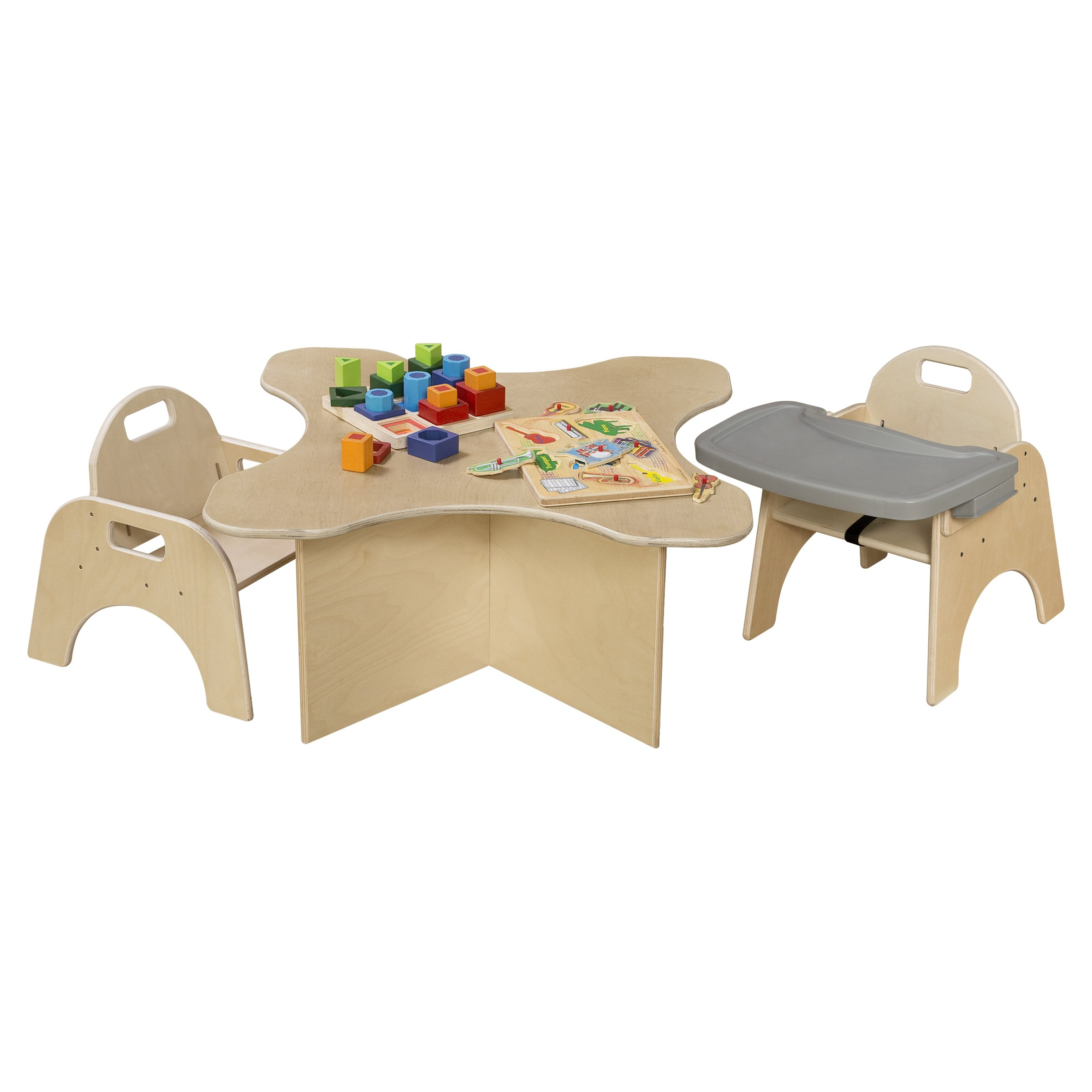 Wood Designs Stackable Woodie Kids Chair with Adjustable Tray, 13'' High Seat by Wood Designs (Image #2)