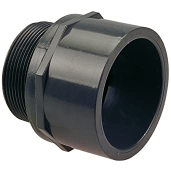 NIBCO 4504 Series PVC Pipe Fitting Adapter Schedule 80 1u0026quot; Socket x  sc 1 st  Amazon.com & NIBCO 4504 Series PVC Pipe Fitting Adapter Schedule 80 1