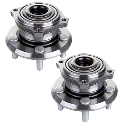 AUTOMUTO Wheel Hub Bearing 512301 Rear 5 Lugs Non-ABS Sensor Fit 2005 2006 2007 2008 2009 Chrysler 300 Dodge Charger Dodge Magnum Chrysler 300 Wheel Bearing and Hub Assembly (Pack of 2): Automotive