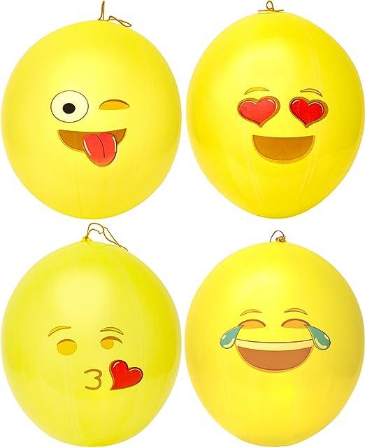 Amazon.com: Globos para golpear con diseño emoji, de ...