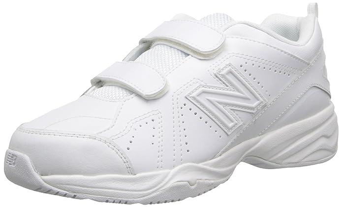 New Balance KV624 Hook and Loop Training Shoe (Little Kid/Big Kid), White, 33.5 W EU