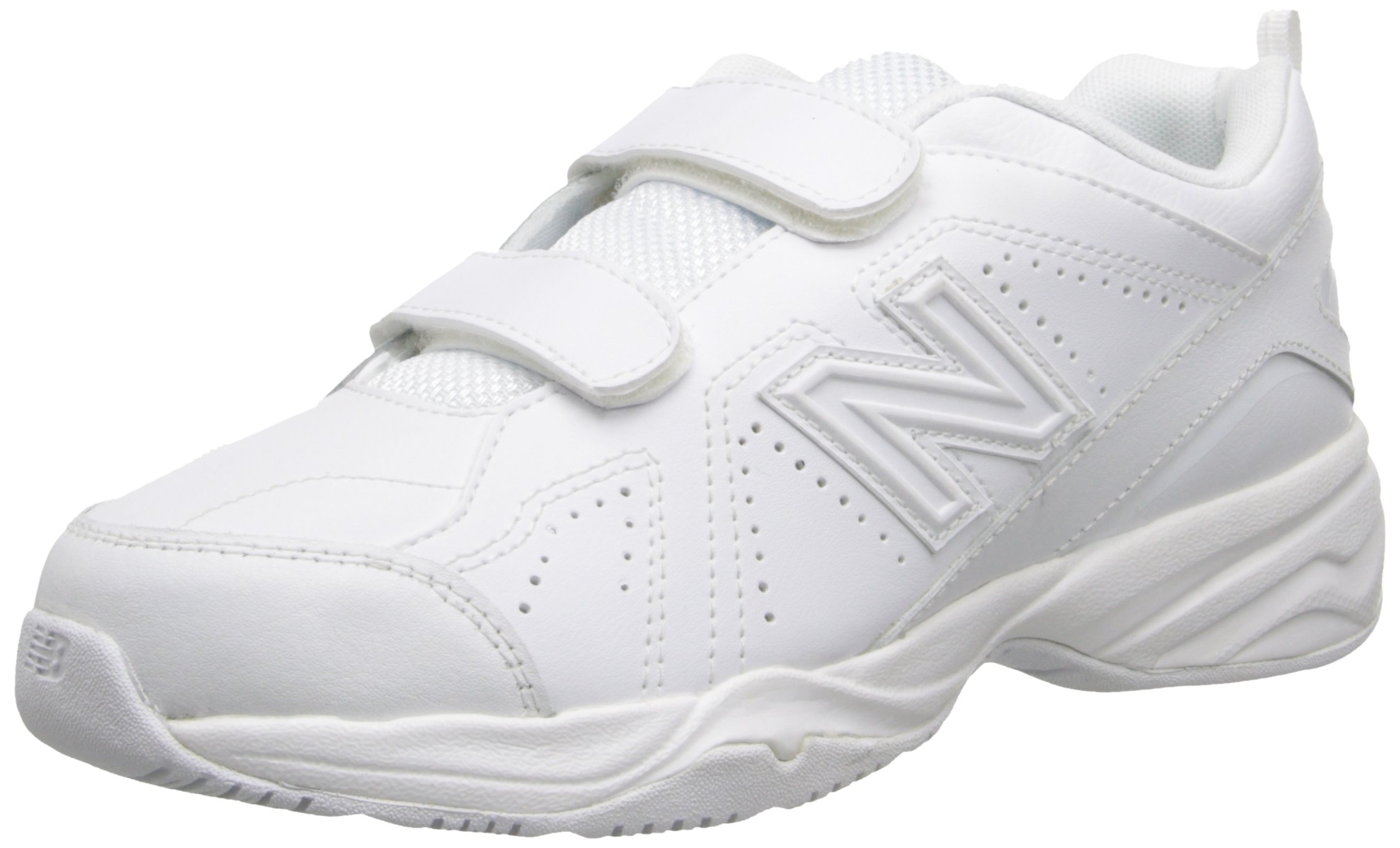 New Balance Boys' KV624 Hook and Loop Training Shoe, White, 12.5 M US Little Kid