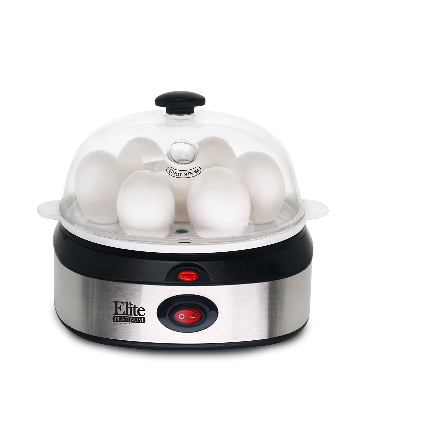 Elite Platinum EGC-207 Maxi-Matic Egg Cooker with 7 Egg Capacity