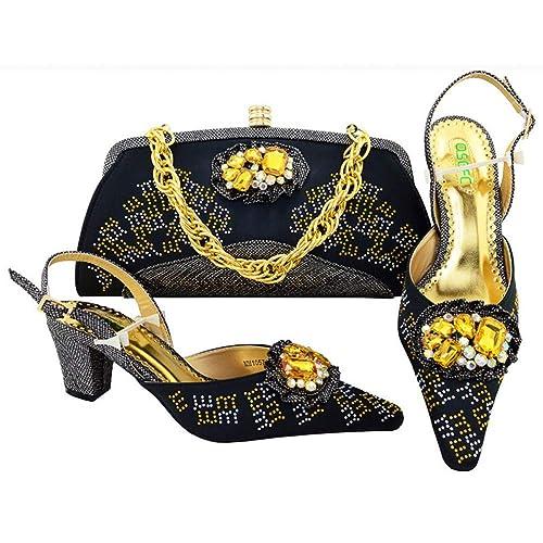 Amazon.com: LIHUIYUN Zapatos Italianos con Azul Verde y ...