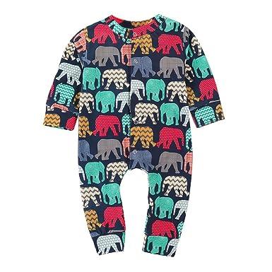 🌸 Peleles Bebe Niño Algodon, 🐬 Zolimx Bebé Recién Nacido Niña de Manga Larga de Dibujos Animados Elefante Mameluco Mono Ropa Trajes: Amazon.es: Ropa y ...