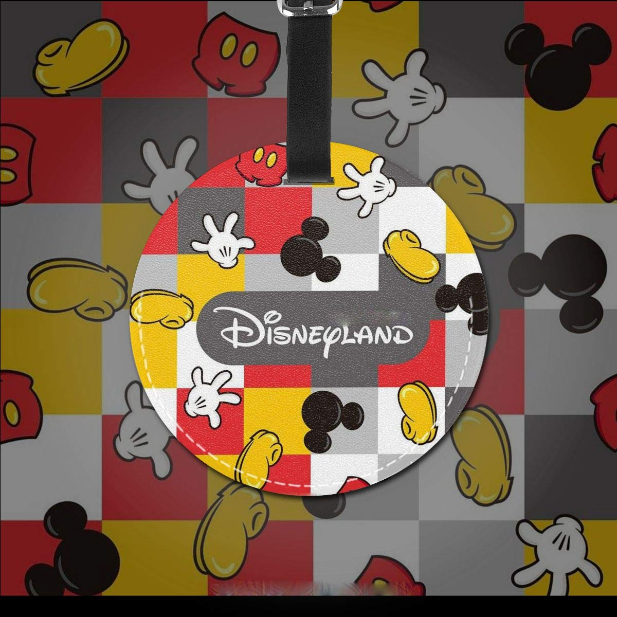 WEIBING Round Luggage TagMickey Mouse Luggage Tags Suitcase Labels Bag Travel Accessories