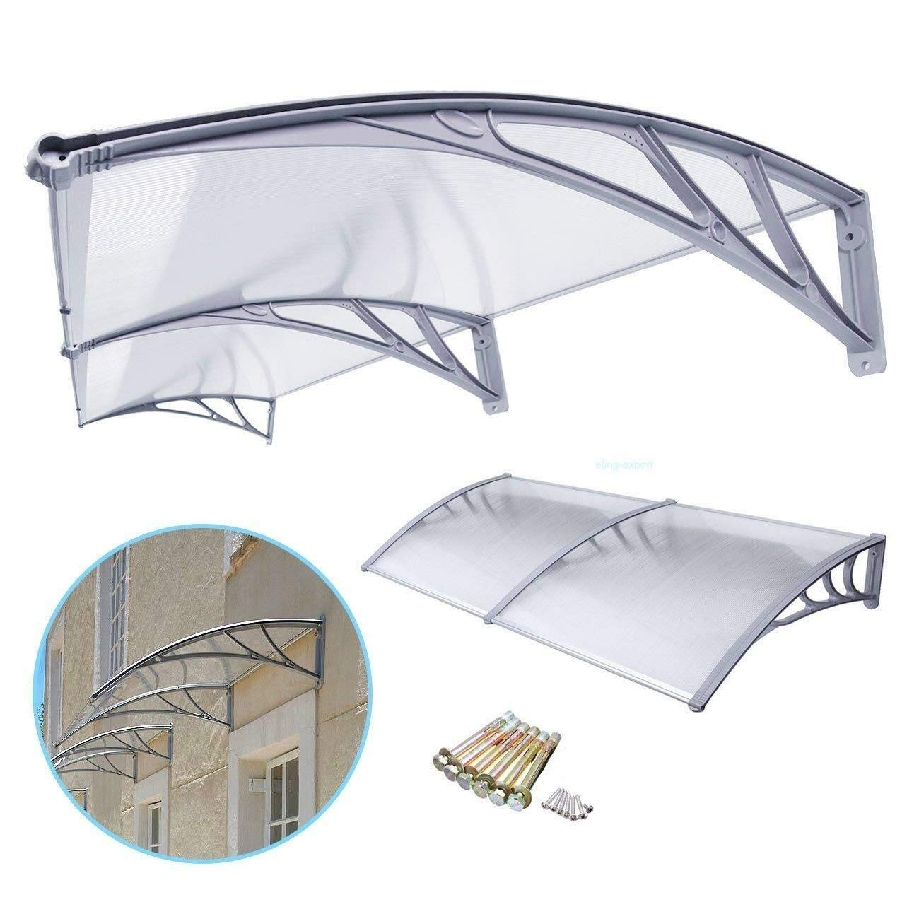 80'' x 40'' Awning Canopy Window Door Complete Sheet Patio Outdoor Polycarbonate by MB-THISTAR