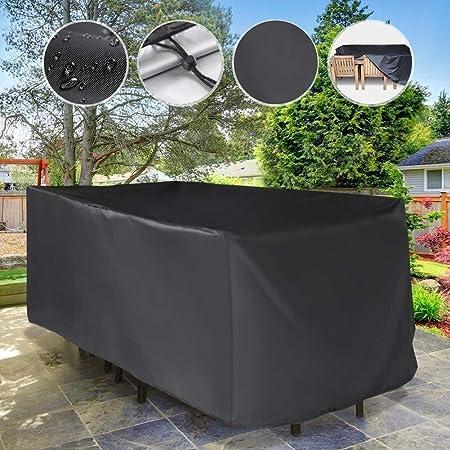 E.enjoy Funda Protectora Muebles Jardín Cubierta Material extra grueso - Impermeable y resistente a la intemperie -