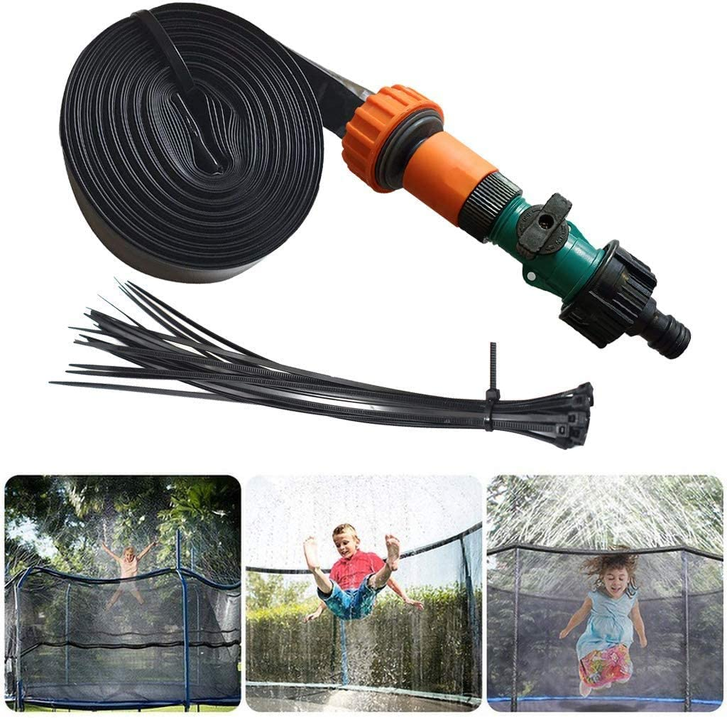 GHONLZIN Aspersor Trampolín, TrampolíN Parque Acuatico Aspersor Mejor Al Aire Libre, Cama elástica de Jardín Water Play Sprinklers Pipe