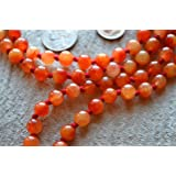 JADE ORANGE 2 TONE JADE HAND KNOTTED EXCLUSIVE JAPA MALA 8 MM BEADS TOP GRADE PRAYER NECKLACE. BLESSED & ENERGIZED (108+1) HINDU TIBETAN BUDDHIST PRAYER KARMA BEADS SUBHA ROSARY MALA FOR NIRVANA, BHAKTI, FOR REMOVING INNER DOSHAS, FOR CHANTING AUM OM, FOR AWAKENING CHAKRAS, KUNDALINI THROUGH YOGA MEDITATION-FREE OM MALA POUCH INCLUDED - USA SELLER