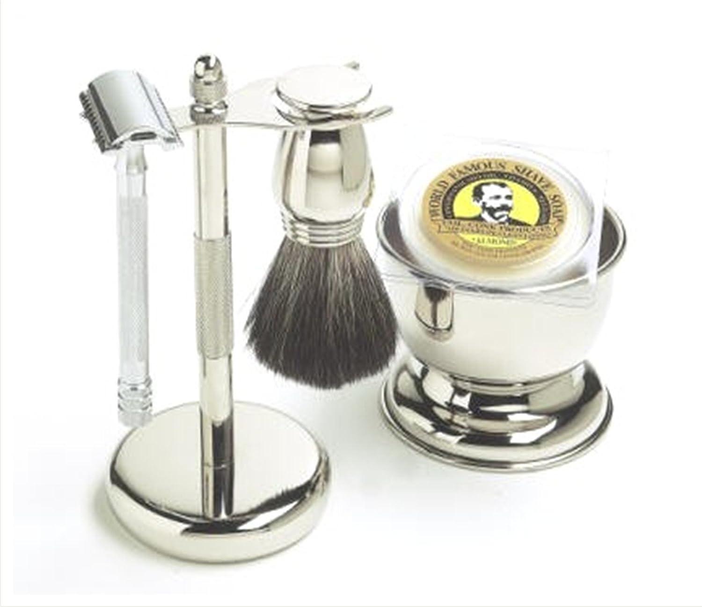 Colonel Ichabod Conk 5pc Chrome Safety Razor Shave Set by Colonel Conk MR-TVN3-BBZ7