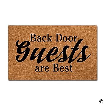 MsMr Doormat Funny Doormat Back Door Guests Are Best Creative Designed Door  Mat Entrance Floor Mat
