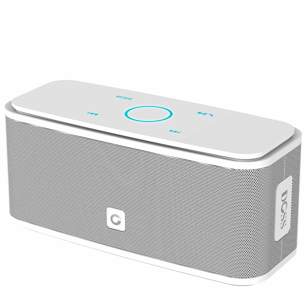 DOSS SoundBox Bluetooth Speaker, Portable Wireless Bluetooth 4.0 Touch Speakers with 12W HD Sound and Bold Bass, Handsfree, 12H Playtime for Phone, Tablet, TV, Gift Ideas[White] by DOSS (Image #1)