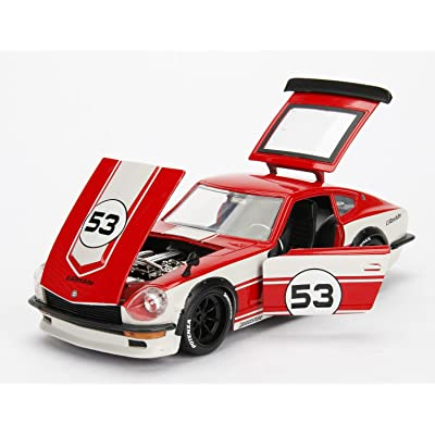 Jada Toys JDM Tuners 1972 Datsun 240Z DIE-CAST Car, 1: 24 Scale Blue/White #53: Toys & Games