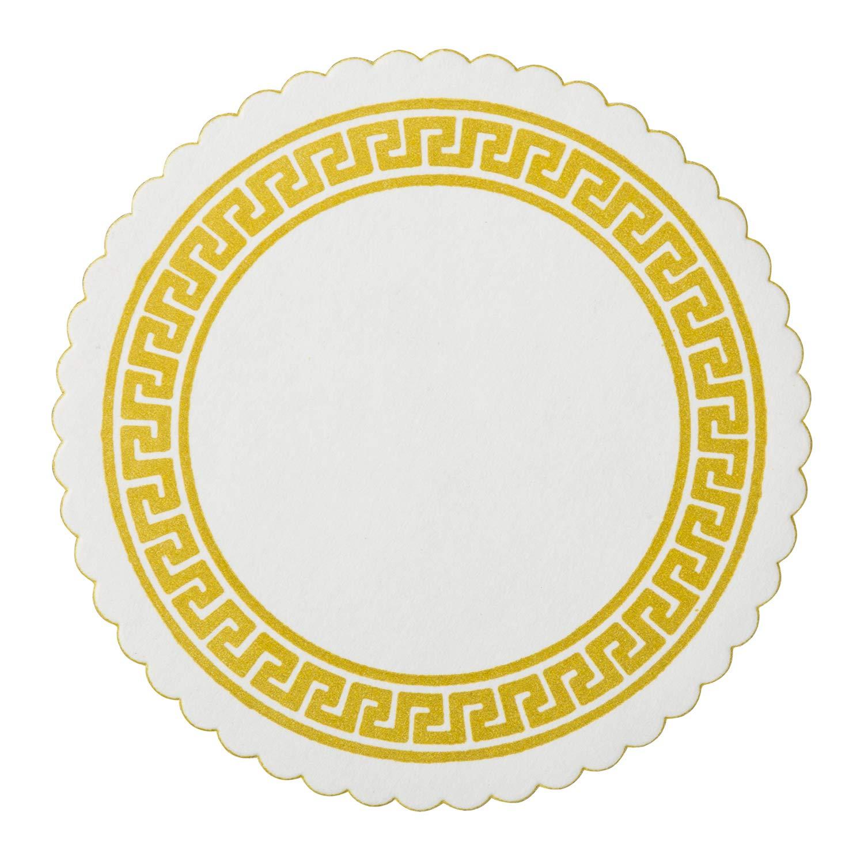 Royal Gold Greek Key Design Royal B Coaster, Package of 2500