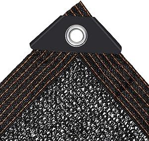 JIWINNER 65%-75% Black Sunblock Shade Cloth aped Edge Grommets Garden Flower Plant,Greenhouse, Barn Kennel (10'x20')