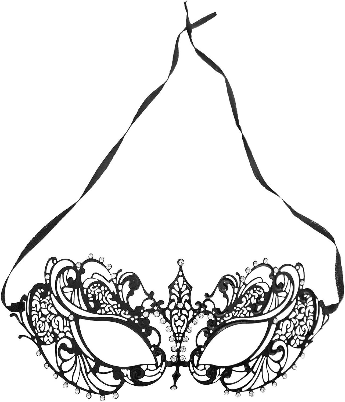 6A22 BZ303A Venetian Fuchsia Plastic Metallic Masquerade Mask Halloween Costume Cosplay SKU