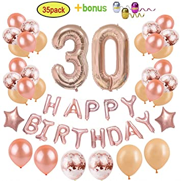 30th Birthday Decorations Party Supplies For Women