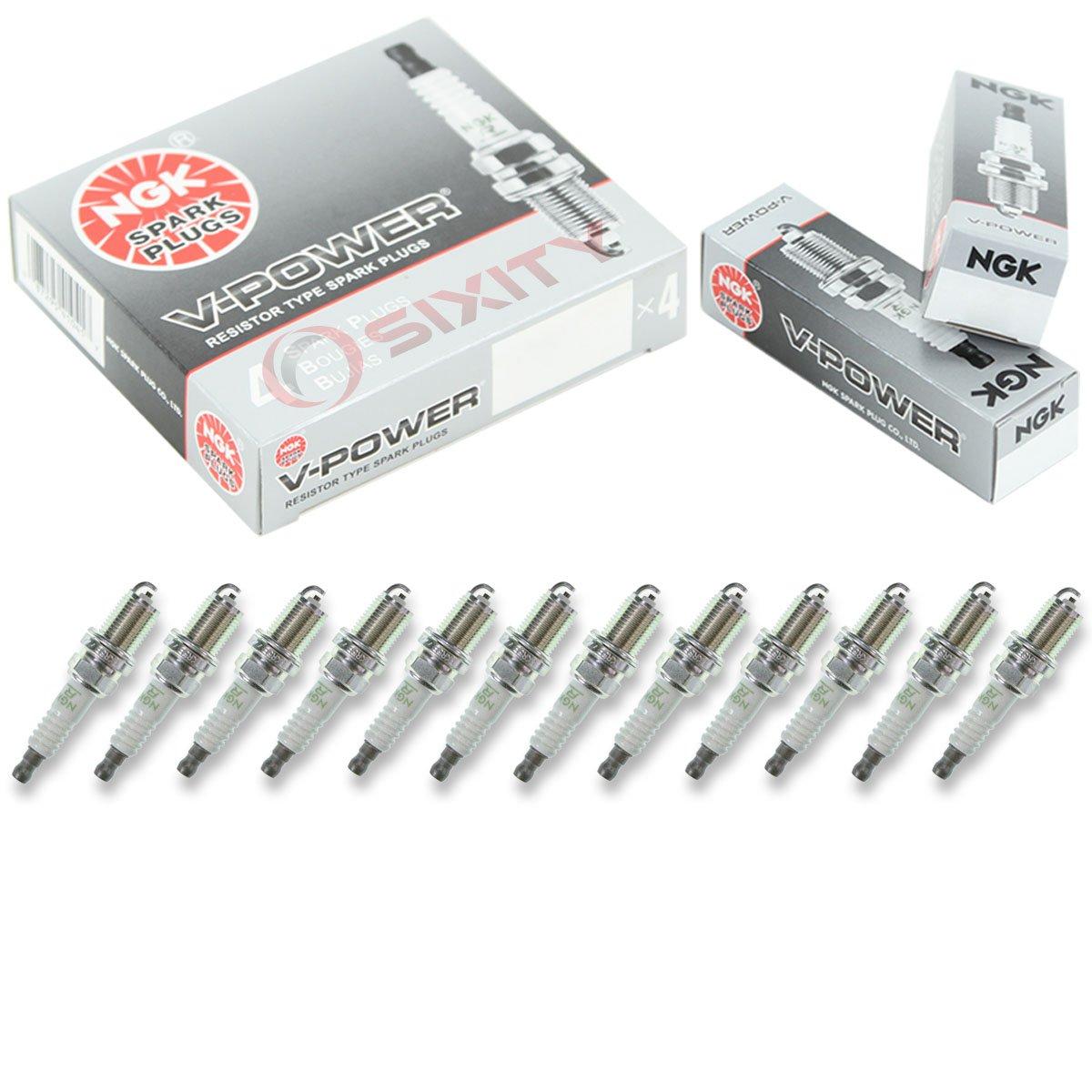 NGK Standard Plug Spark Plugs 2003-2005 Mercedes-Benz C240 2.6L V6 12
