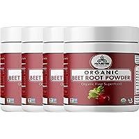 Naturevibe Botanicals Organic Beet Root Powder - 2lbs ( 4 Packs of 8 Ounces Each ) - Beta vulgaris L. | Raw, Gluten-Free & Non-GMO | Increase Stamina