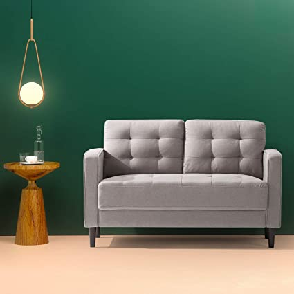 Amazoncom Zinus Benton Mid Century Upholstered 528 Inch Sofa
