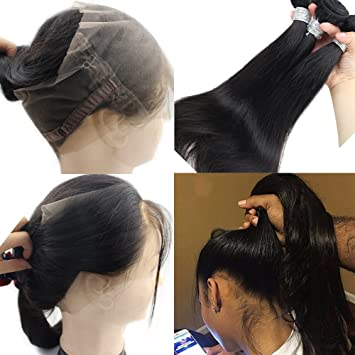 Amazon com : Atina Hair 360 Lace Frontal Band With Bundles