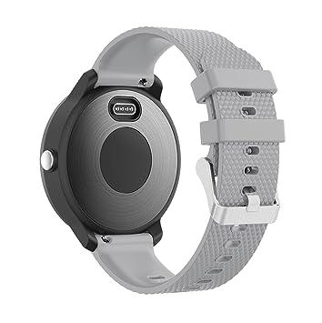 YuStar Bracelet de rechange en silicone 20 mm, montre bracelet connecté, Bracelet sport pour Samsung Gear ...