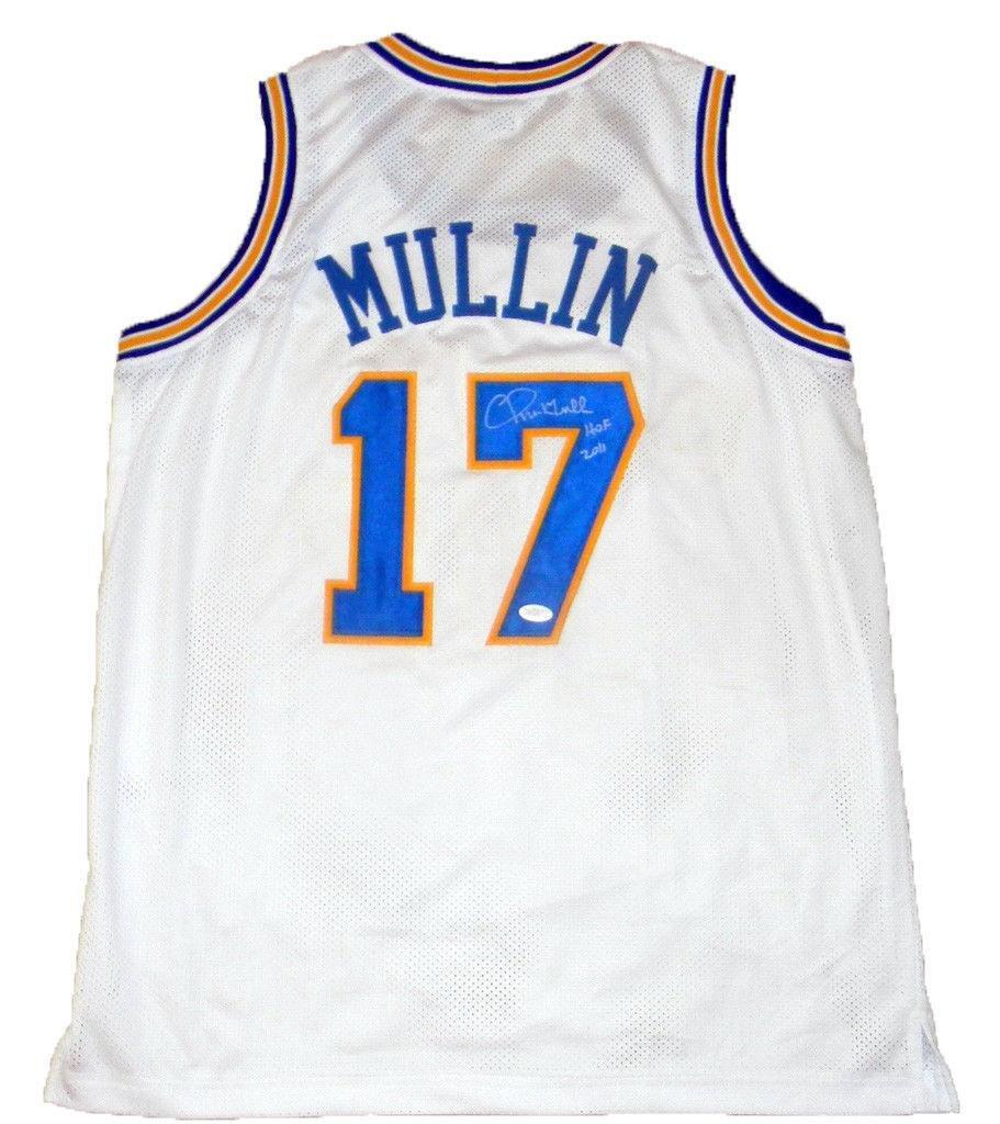 new style 4253b dc707 Signed Chris Mullin Jersey - White #17 Hof 2011 ...