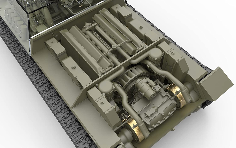 /Maqueta de su de 122/Mid Production con Interior Kit, Unbekannt Mini Tipo 35197/