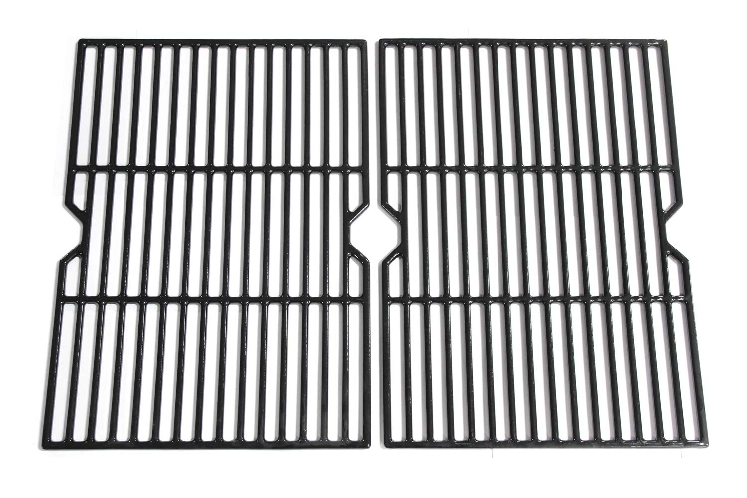 Hongso 18 1/4 Inch Porcelain Coated Cast Iron Grill Grate Cooking Grid Replacement for Charbroil 80005665, CG-65P-CI, Thermos, Uniflame, Master Forge Gas Grill, g515-00b5-w1, 2-Pack, (PCF652) by Hongso