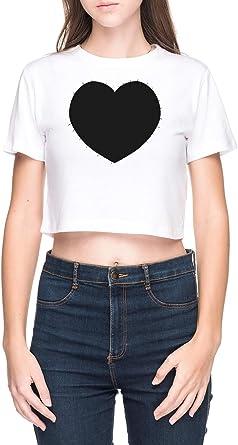 Zacharies Camisa Camiseta de Crop Mujer Blanco: Amazon.es: Ropa y accesorios